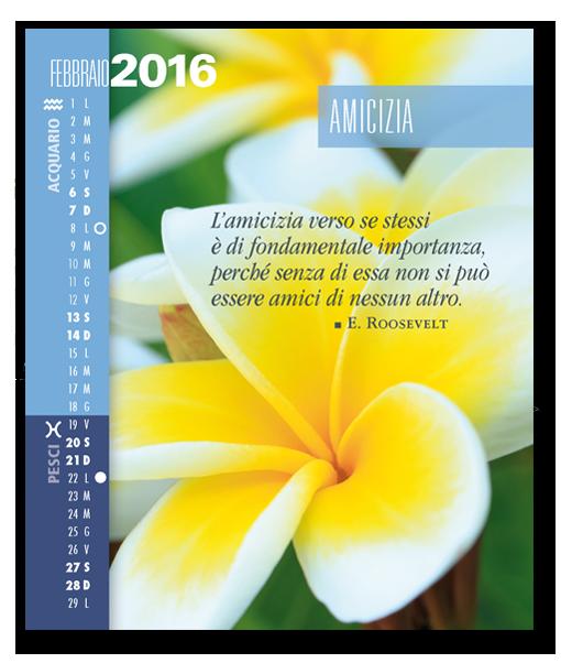 Calendario Astrologico SegniSimboliParole 2016. Febbraio