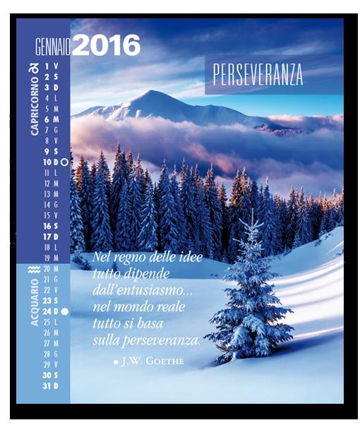 Calendario Astrologico SegniSimboliparole 2016. Gennaio